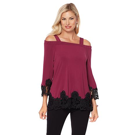 Joan Boyce Off-the-Shoulder Top with Removable Straps