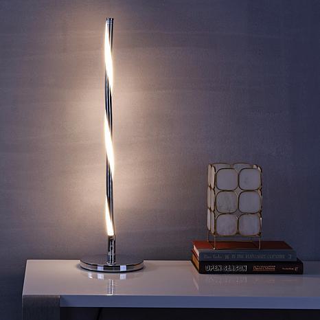 "JONATHAN Y Chrome Nile 23.5"" LED Integrated Table Lamp"