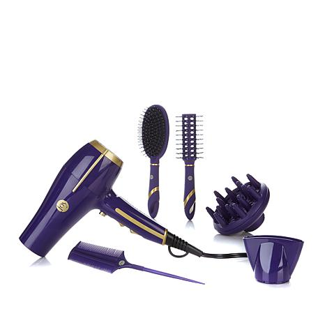 JOY 1875-Watt Single Touch Hair Dryer™ w/Bonus Brushes