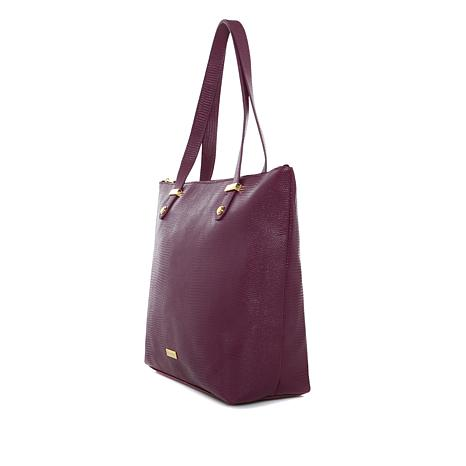 JOY Luxe Leather Lizard-Embossed City Collection Handbag with RFID -  8510622   HSN 66a7f1e63e