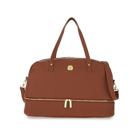 Joy Smart Chic Genuine Leather Weekender With Secret Section 8384950 Hsn
