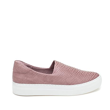J/Slides NYC Ariana Snake-Embossed Slip-On Sneaker
