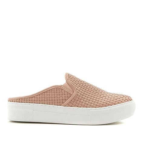 J/Slides NYC Aubrey Woven Leather Slip-On Mule