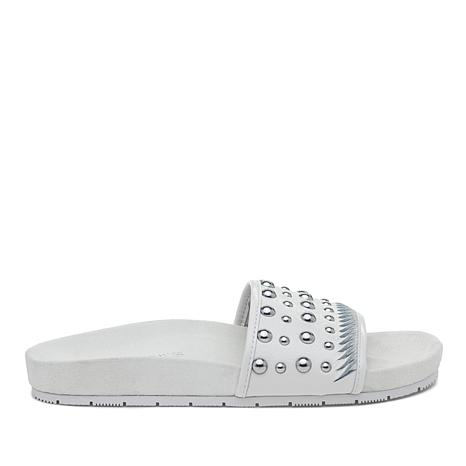 J/Slides NYC Nora Studded Upper Footbed Slide