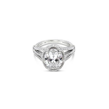 Judith Ripka Sterling Silver Diamonique® Scallop Ring