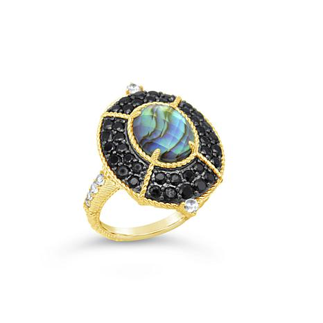Judith Ripka Sterling Silver Diamonique® Spinel and Gem Cocktail Ring