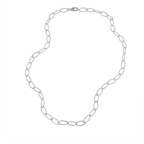 "Judith Ripka Verona Collection Textured Oval Link 24"" Necklace"