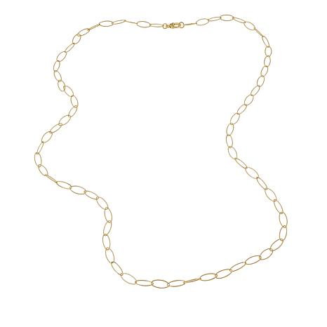 "Judith Ripka Verona Collection Textured Oval Link 36"" Necklace"