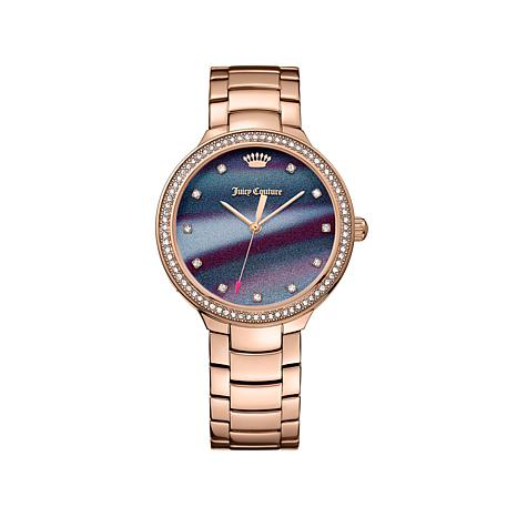 """Juicy Couture """"Catalina"""" Rosetone Multicolor Dial Watch"""