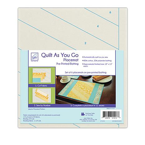 June Tailor Quilt As You Go Jakarta Placemats 8719852 Hsn