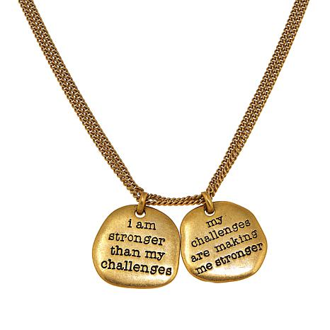 "Karen Salmansohn ""Stronger"" Double Disc 30"" Necklace"