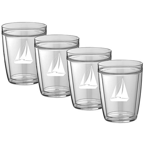 Kasualware™ 14oz. Doublewall Set of 4 Drinking Glasses