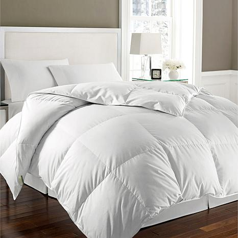 kathy ireland white goose feather and down full queen comforter 8975787 hsn. Black Bedroom Furniture Sets. Home Design Ideas