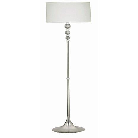 Kenroy Home Luella Floor Lamp - Brushed Steel