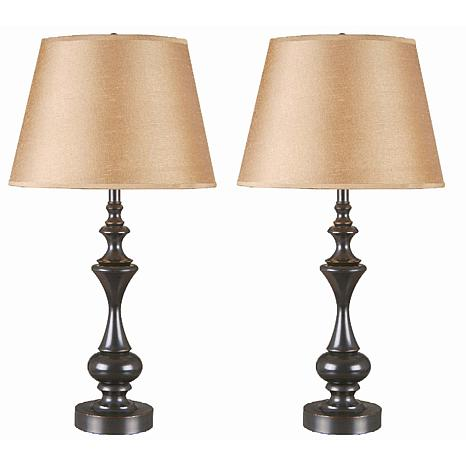 Kenroy Home Stratton II 2 Pack Table Lamps
