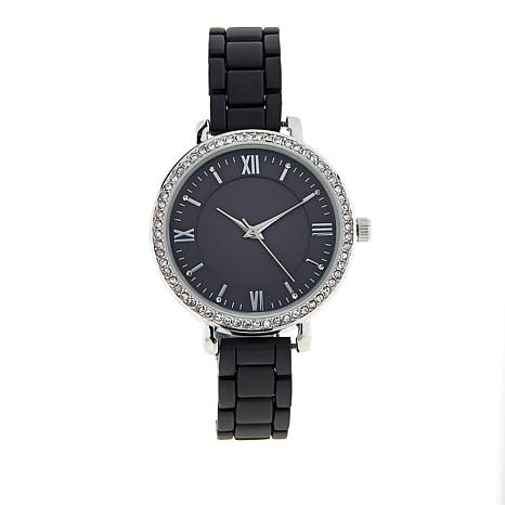 Kessaris Women S Crystal Accented Matte Bracelet Watch