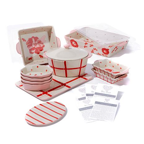"Kimberly Schlapman ""Love and Daisies"" 14pc Bakeware Set"