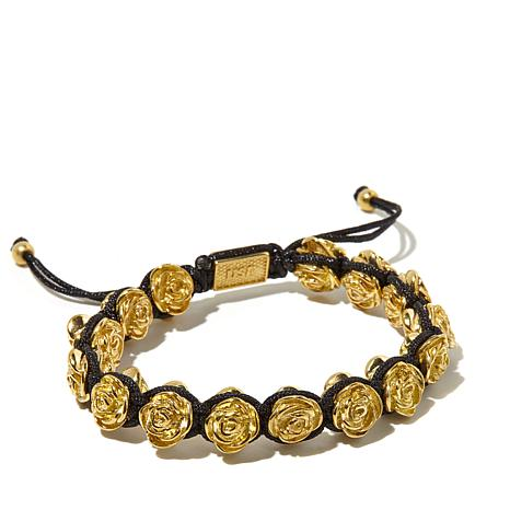 King baby jewelry macrame goldtone roses bracelet for King baby jewelry sale
