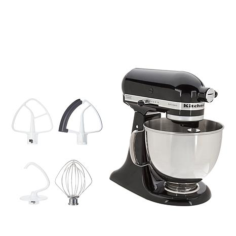 KitchenAid® Artisan Series 5-Quart Stand Mixer with Flex-Edge Beater on fall ice, champagne ice, whirlpool refrigerator ice, coffee ice,
