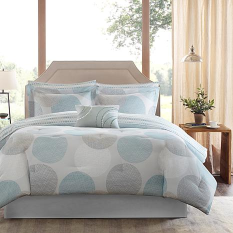 Knowles Queen 9pc Complete Bed and Sheet Set - Aqua