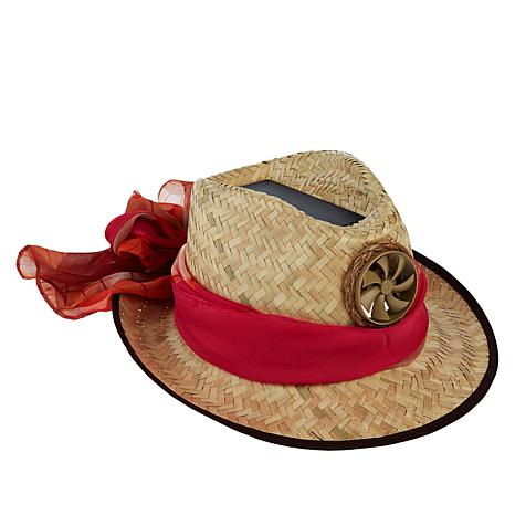 Kool Breeze Ladies Fedora Solar Cooling Hat with Scarf