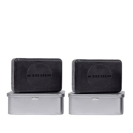 Korres 2-piece Black Pine Detox Mineral Bar Soap Set