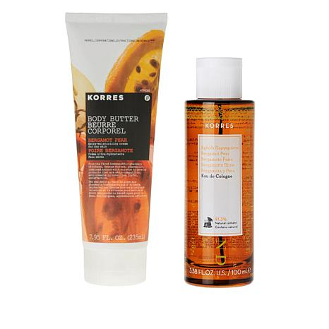 Korres Bergamot Pear 2-piece Bath & Body Set