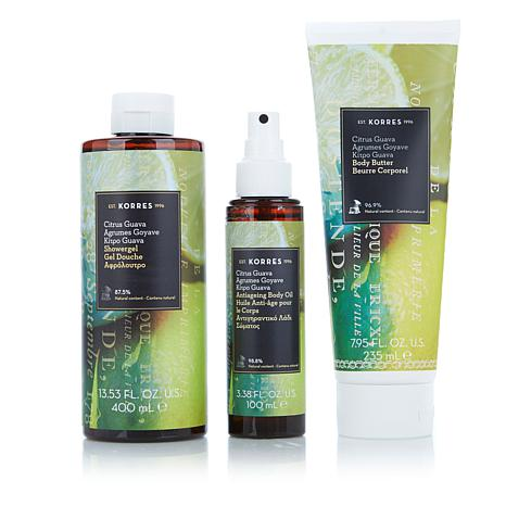 Korres Guava Citrus 3-piece Anti-Aging Collection
