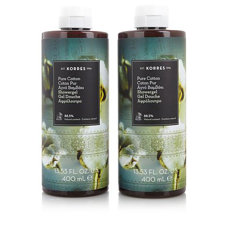Korres Pure Cotton Shower Gel Duo