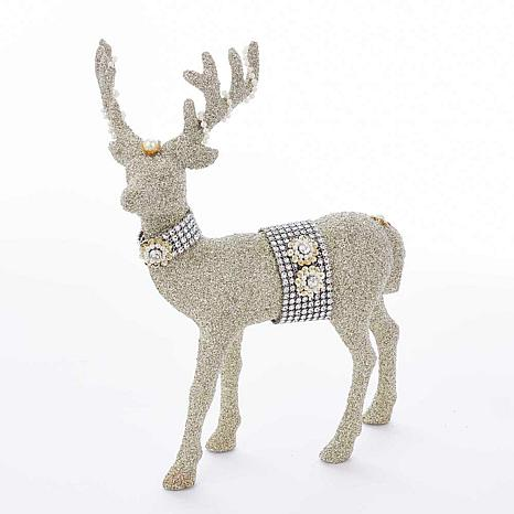 Kurt Adler Glitter Deer Tabletop Figure - 12-1/2""