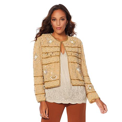 LaBellum by Hillary Scott All Over Beaded Jacket