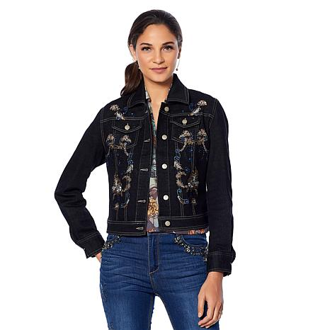 LaBellum by Hillary Scott Embellished Denim Jacket
