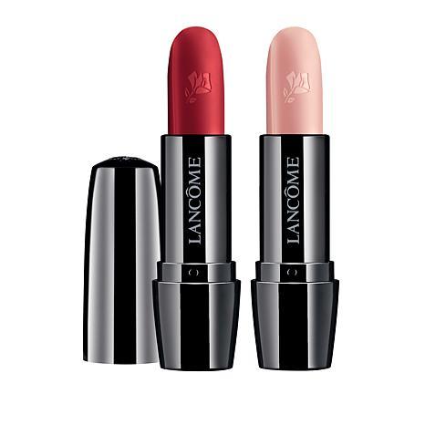 Lancôme Color Design Pale and Red Haute 2-piece Lip Color Set