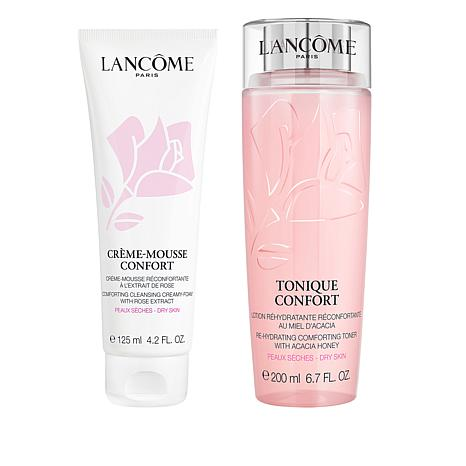 Lancôme Confort Toner and Creamy Foam Cleanser