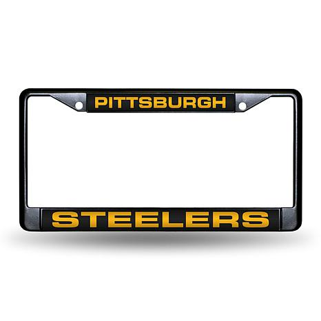 Laser-Engraved Black License Plate - Dallas Cowboys