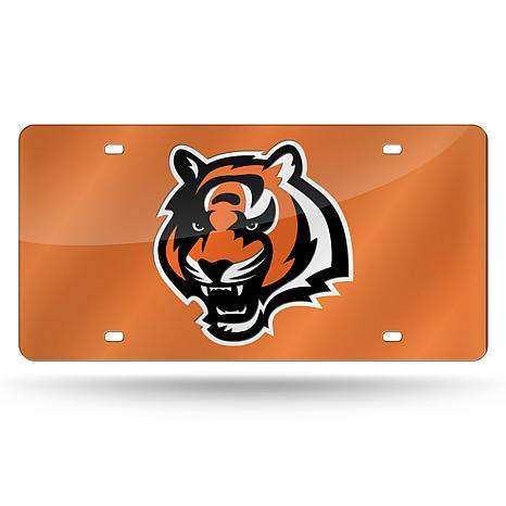 Laser-Engraved Orange License Plate- Cincinnati Bengals