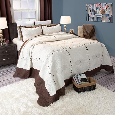 Lavish Home 2-piece Athena Quilt Set - Twin