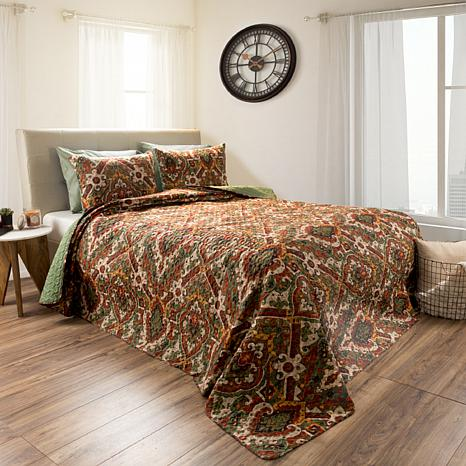 Lavish Home 2pc Selena Reversible  Quilt Set - Twin