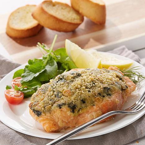 Legal Sea Foods 6-pack of 6 oz. Garlic Spinach Salmon Fillets