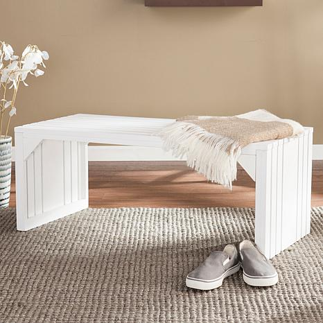 Lesante Slat Bench Table - White