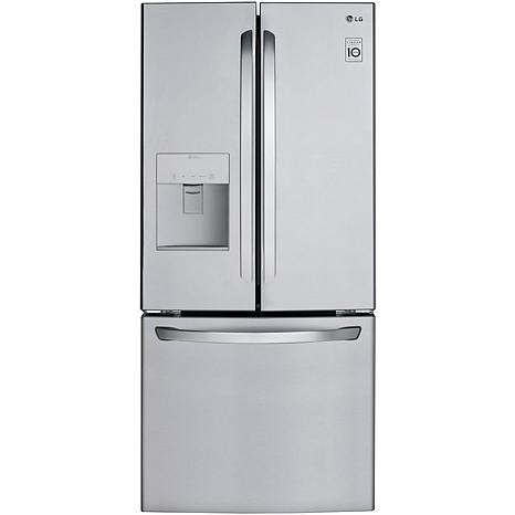 LG 22 Cu. Ft. 3-Door French Door Refrigerator - Stainless Steel