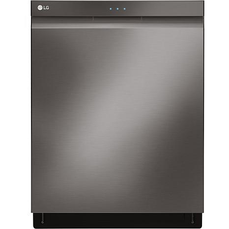 LG Top Control Dishwasher with QuadWash - Black Stainless Steel