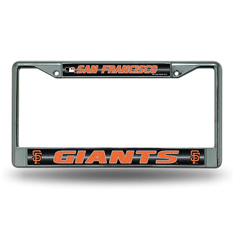 License Plate Frame with Bling - San Francisco Giants