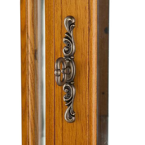 ... Lighted Corner Curio Cabinet - Golden Oak - Lighted Corner Curio Cabinet - Golden Oak - 6221876 HSN