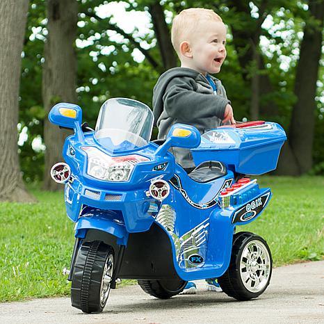 Lil' Rider 3-Wheel Battery-Powered FX Sport Bike - Blue