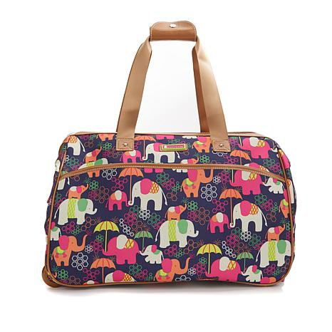 Lily Bloom Wheeled Duffle Bag Elephant Rain