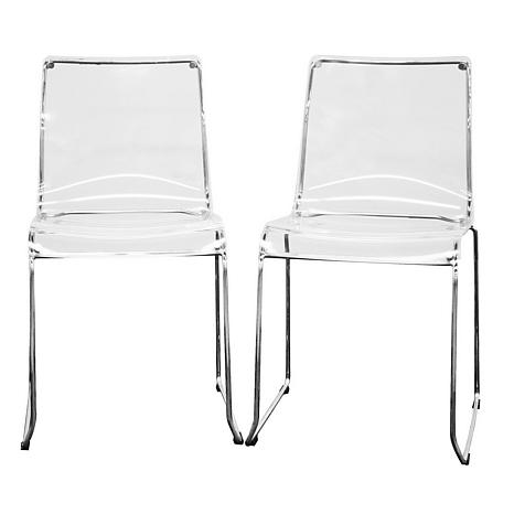Nice Lino Transparent Acrylic Dining Chairs   Set Of 2