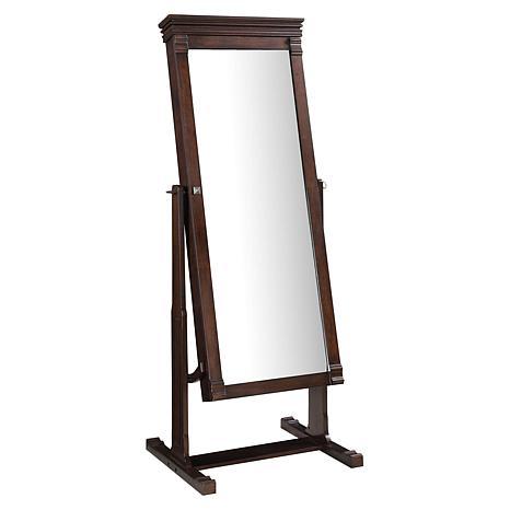 Linon Home Danielle Walnut Cheval Mirror - Brown