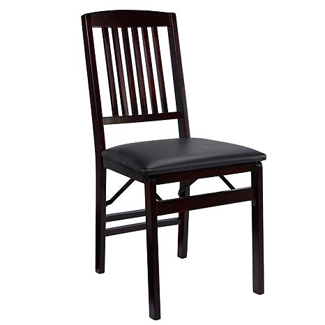 Linon Home Jocelyn Mission Back Folding Chair - Brown