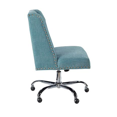 Linon Home Nash Aqua Office Chair   Aqua   8595929 | HSN